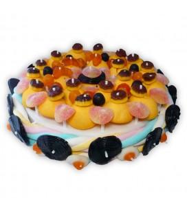 Le grand gâteau d'Halloween - gâteau de bonbons