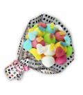 """Bouquet de bonbons """"TE QUIERO""""-emballage cello+ papier cadeau carreaux couleurs"""