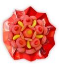Bouquet Chamallows Tagada-emballage cello+emballage papier rouge