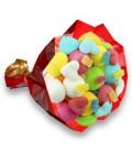 """Bouquet de bonbons """"TE QUIERO""""-emballage cello+ papier cadeau rouge"""