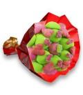 """Bouquet de bonbons """"Ik houd van je""""-emb cello+papier cadeau rouge"""