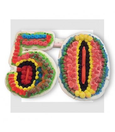 CINQUANTE - Composition de bonbons pour un anniversaire