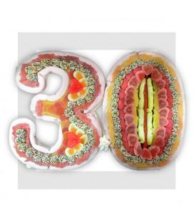 TRENTE Composition de bonbons pour anniversaire