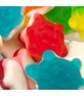 Les tortues gélifiées multicolores Gros plan