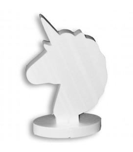 La Licorne qui tient debout -support ovale de composition de bonbons