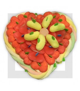 GUADELOUPE composition de bonbons en forme de cœur