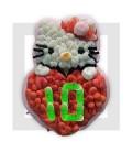 MA KITTY gâteau d'anniversaire en bonbons