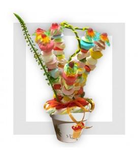 ANTIBES bouquet de fleurs en bonbons
