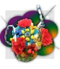 Fleurs de bonbons en Bouquets