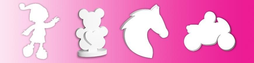Animaux et personnages en polystyrène