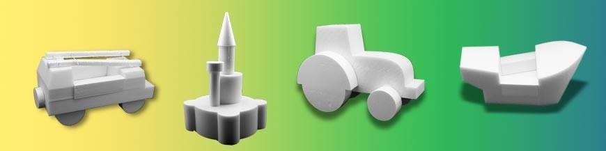 Les Objets 3D en polystyrène extrudé