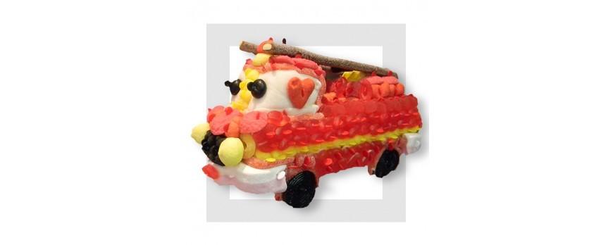 LA Voiture de pompier 3D en bonbons